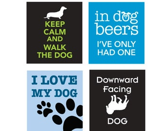 Dog Sayings - Scrabble tile size 0.75 inch x 0.83 inch images - Digital Collage Sheet - INSTANT DOWNLOAD