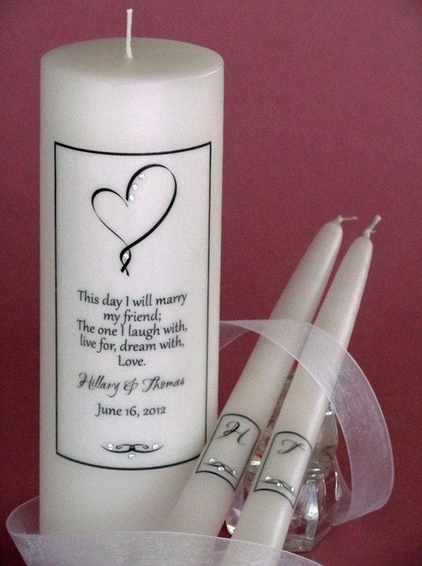 Ribbon Heart Poema Wedding Unity Candles