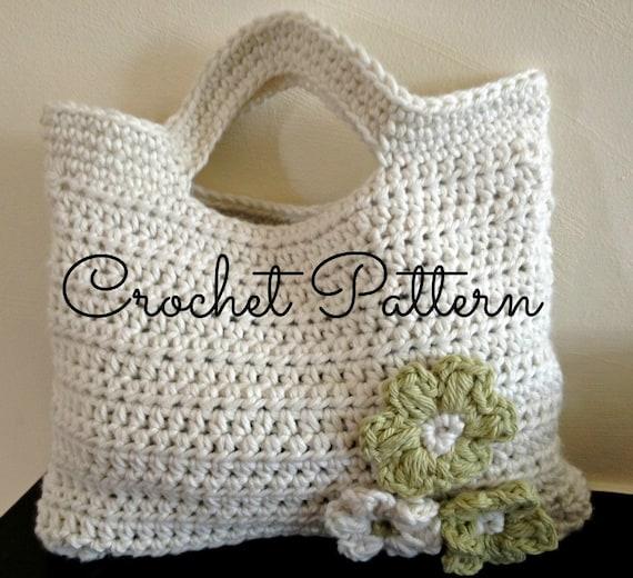 Crochet Bag Written Pattern : Items similar to Crochet Pattern/Written Instructions ...