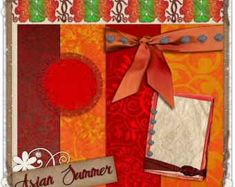 Asian Summer Digital Scrapbook Mini-Kit