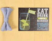 Eat Drink and Be Married, Lemon and Lime Mason Jar Chalkboard Save the Date