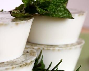 Rosemary Mint Soap, Goat's Milk Soap, No Sulfates, Set of 4