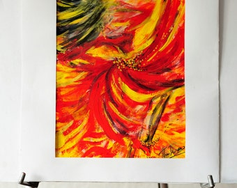 """Original Abstract Painting """"Gypsy Dance"""""""