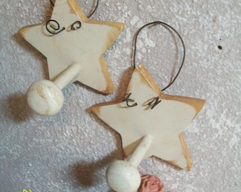 Star Hooks Pegs Shabby Chic Country Cottage