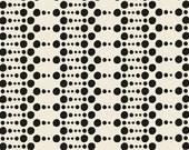 Hello Gorgeous Dots in Black from Melissa Ybarra 1/2 Yard Cut