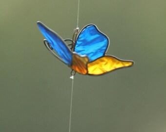 Butterfly wind chimes suncatcher