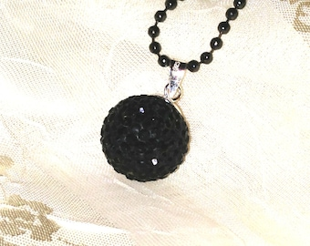 Witchy Necklace Hot Black Magic Dark Arts Disco Ball for Halloween & Everyday
