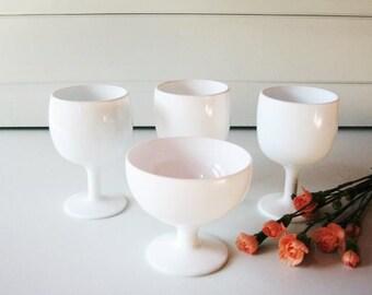 Milk Glass Compotes, Wedding Decoration, Centerpiece, Bridesmaids gift