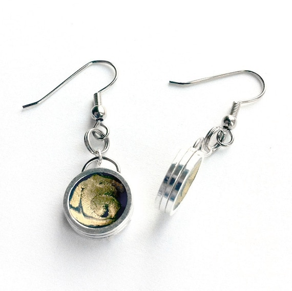 Round Yellow Earrings, Dangle Earrings, Everyday Earrings, Silver Dangle Earrings, wear with jeans, silver yellow jewelry