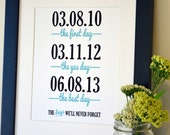 Wedding sign print 11x14 The first day the yes day Anniversary gift for husband Gift for wife First anniversary present Wedding gift
