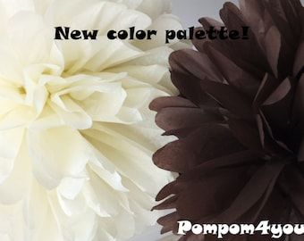5 Tissue Pom Pom mix - any colors