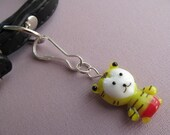 Cat Collar Charm - Glass Tiger with Red Pants
