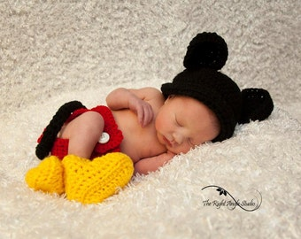 Cute boy mouse baby set