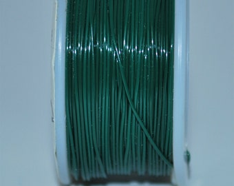 Green Beading Wire 24 gauge- 42 grams