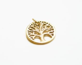 Bronze Tree Charm, Nature Charm, Tree Charm, Tree of Life Charm, Family Tree Charm, Tree of Life Pendant, Family Tree Pendant
