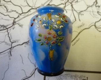 Vintage Miniature Blue Vase