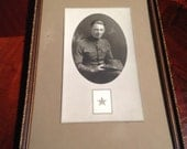 World War 1 Son in Service Photograph Framed Morrison Photo Chicago Illinois