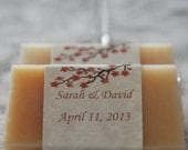 Spring, Cherry Blossom, Beer Soap Wedding Favors- 100, Artisan Soap, Handcrafted Soap, Soap favor