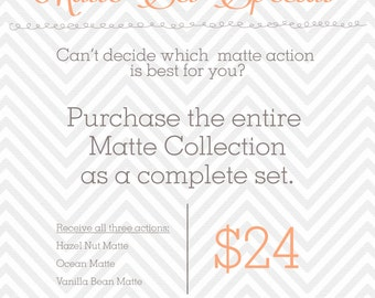 Photoshop Matte Actions: Complete Set of 3