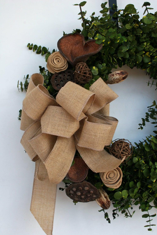 Wreath Dried Flower Wreath Eucalyptus Wreath