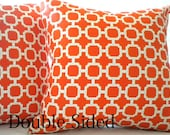Orange Pillow Cover Mandarin orange  16 inch Double Sided - MicaBlue