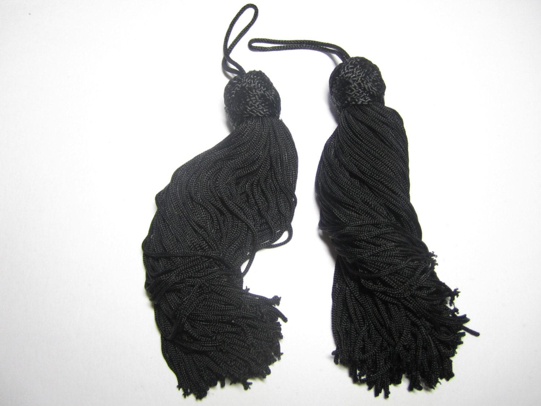 chinese knot tassels black one pair of elegant black