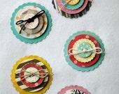 Scrapbook Embellishments - 3D Embellishments - Dimensionals - Layered Embellishments