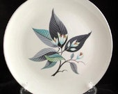 4 Homer Laughlin  Lotus Hai Dinner Plates Rhythm Vintage 1950s SET of 4