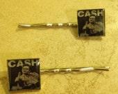 Johnny Cash Bobby Pin/Poker Set