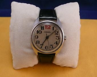 "Ussr Unusual  ""Raketa"" (red 12) wrist watch 1960-70  unusual dial ULTRA rare grey dial Very VERY good condition"
