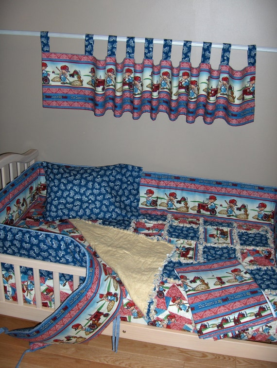 Tractor bedding set boys hilltop farm yard tractor for International harvester room decor