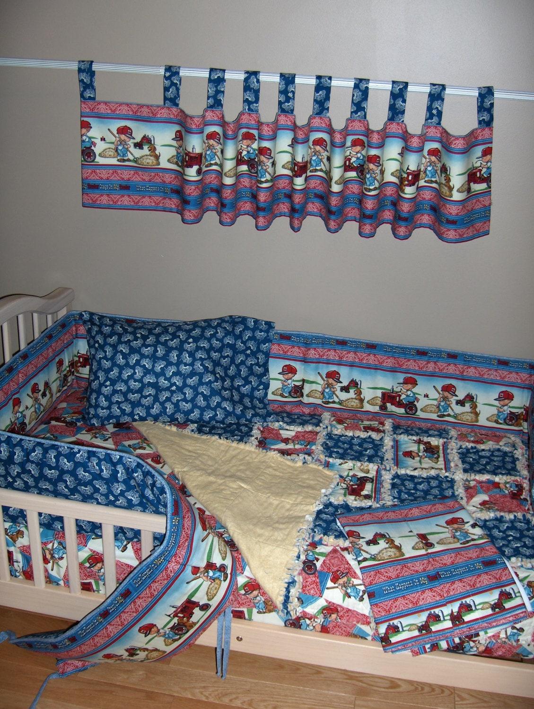 International harvester farmall crib bedding set rag quilt for International harvester decor