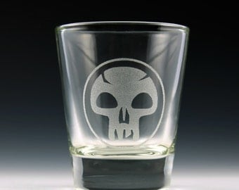 Magic the Gathering Swamps/Black Mana Shot Glass