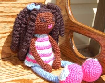 Crochet African Amigurumi Doll