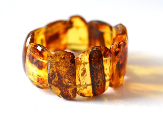 RESERVED Natural Amber Bracelet, Baltic Amber Jewelry, Raw Amber, Honey, Yellow, Brown, Lemon Amber, Spring Fashion