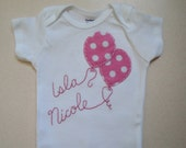 Personalized Balloons Baby Bodysuit