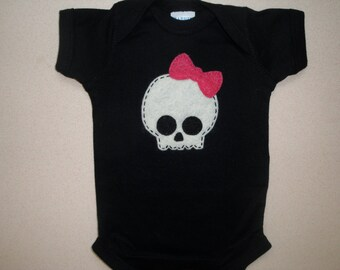 Girlie Skull One piece Romper