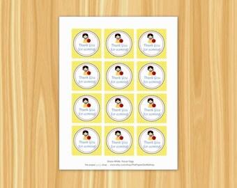 Snow White Favor Tags | Snow White Party | Snow White Birthday Party | Princess Party | Princess Favor Tags