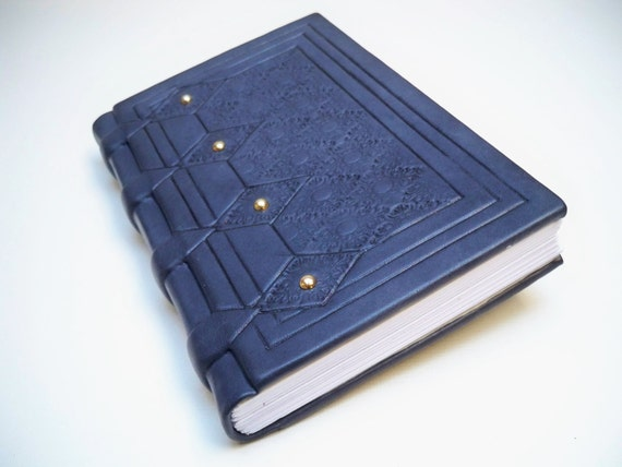 Leather Book : Medieval style leather binding, alchemical book - Valentine's day gift