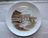 Handpainted country side scenery plate by Arabia Finland