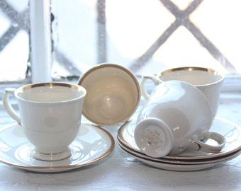 For those very special moments: Lot of 4 Mocha cups by Arabia Finland