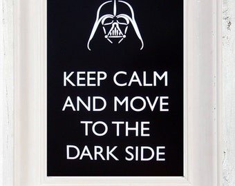 Star Wars Typography Print, Keep Calm Poster, A3