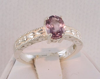 Spinel Ring, 1.10 Carat, Sterling Silver, Oval Cut, NEW Vintage, RING SIZE 7