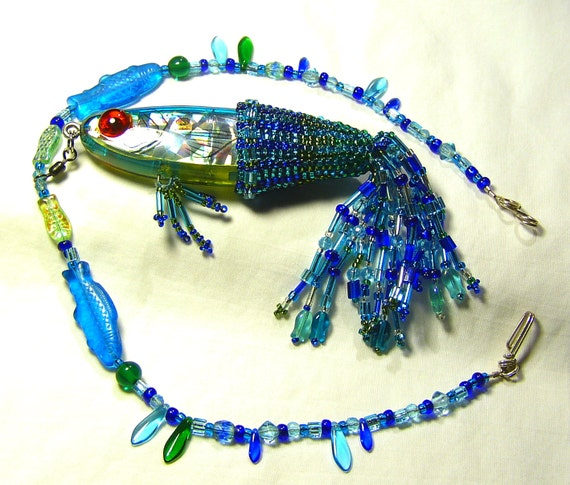 Alluring Blue Lagoon Fish Necklace