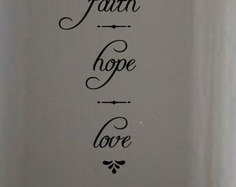 faith hope love vinyl wall art decal