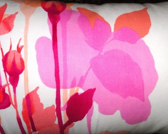 "Pink Floral and Stripe Pillow covers.14""x26"" size.Decorative pillow,Designer pillow,Throw pillow"