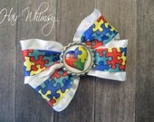 Autism Awareness Hair Bow-Personalized by You