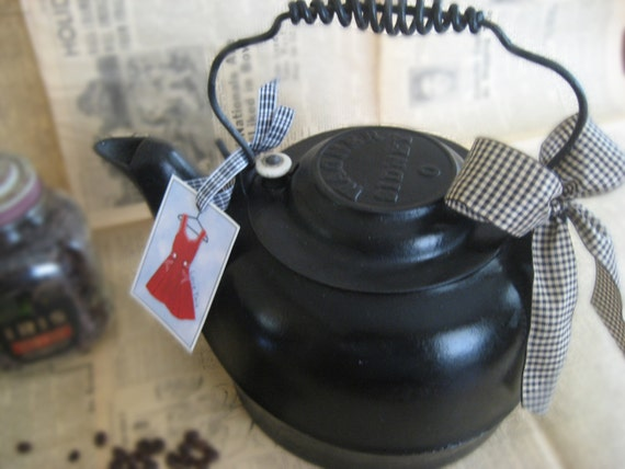 Rare Large Cast Iron - Wagner Sidney 0 Kettle