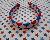 """Patriotic woven headband for American Girl doll and other 18"""" dolls"""