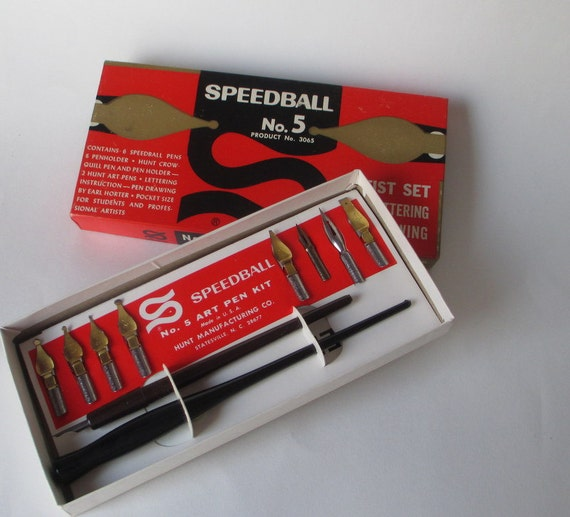 Speedball No 5 Artist Set For Lettering By